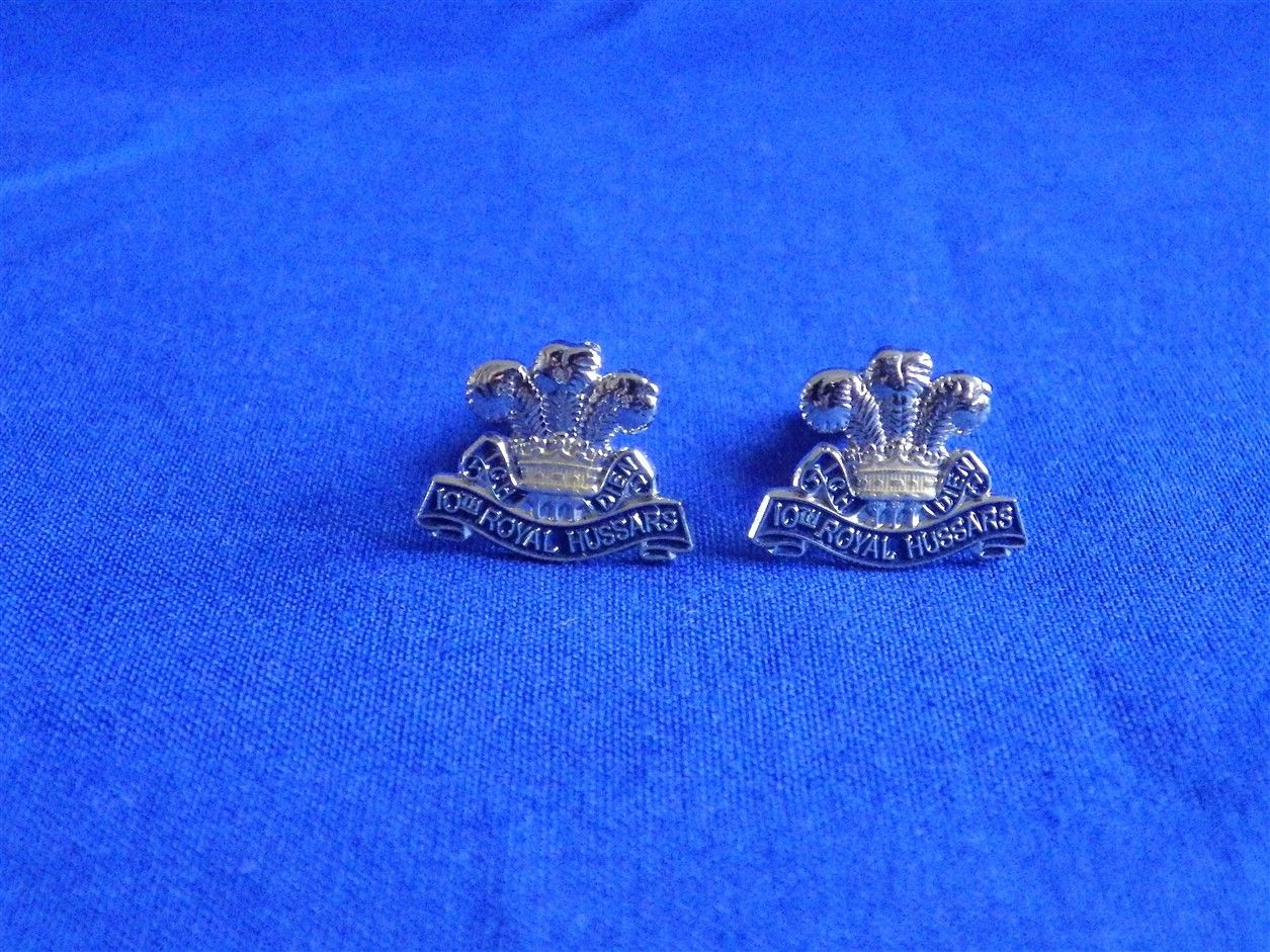 10th ROYAL HUSSARS ( PRINCE OF WALES OWN ) CUFF LINKS